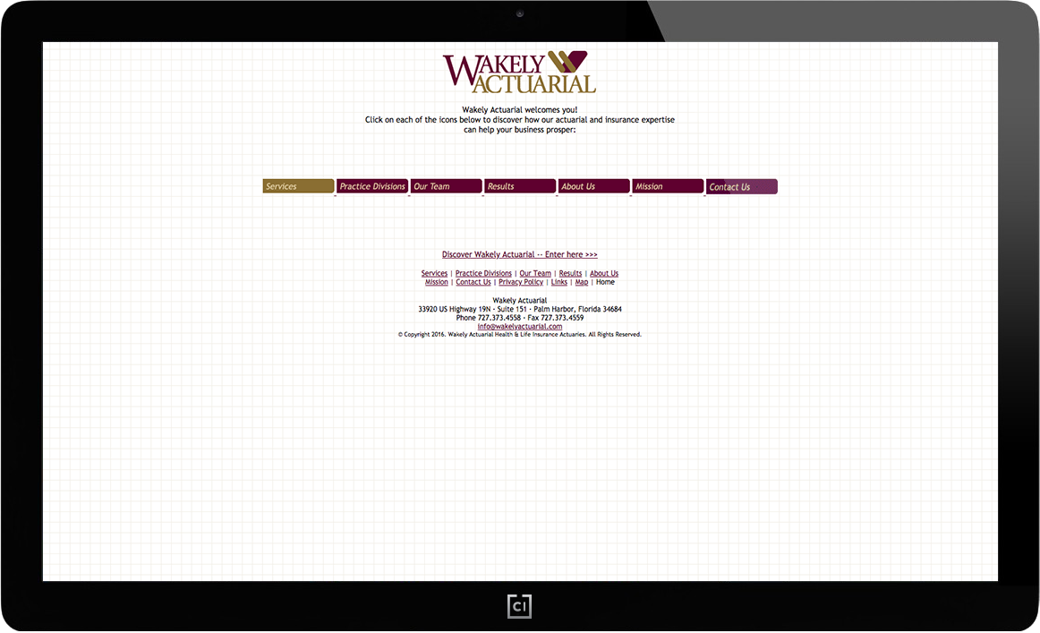 wakely-actuarial-homepage-before