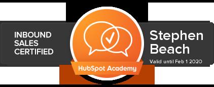 hubspot inbound sales certification stephen beach