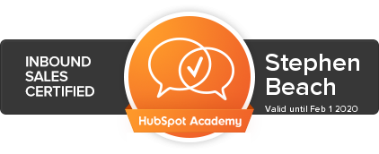 hubspot inbound sales certification stephen beach